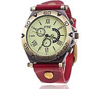 Men's Bracelet Watch Unique Creative Watch Casual Watch Fashion Watch Chinese Quartz Leather Band Vintage Casual Elegant Black White Blue