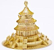 Недорогие -Пазлы Металлические пазлы Круглый Ветряная мельница Китайская архитектура 3D Храм Неба Своими руками Сплав 6 лет и выше