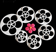 6Pcs/Set Rose Flower Gift Decorating Tools Cupcake Fondant Kitchen Accessories Gift Mold Stand Cozinha Cookie Cutter