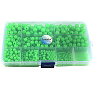 Anmuka 820Pcs/Box Plastic Glow Fishing Beads Round Luminous Sea Fishing Floating Fishing Lure Set