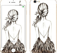 Screen Protector For iPhone 6s Plus 6 Plus Tempered Glass 9H Hardness 2.5D Curved Edge Anti-Fingerprint Sexy Lady Cartoon Front & Back Protector