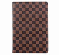 cheap -For iPad (2017) Case Cover Card Holder Full Body Case Lattice Pattern Hard PU Leather for iPad Pro10.5 iPad Pro9.7 iPad Air Air2