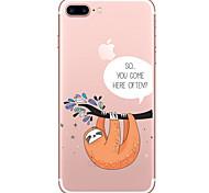 Недорогие -Чехол для Apple iphone 7 7 плюс чехол чехол для леночной ткани окрашенный высокопроницаемый материал tpu мягкий чехол для телефона для