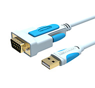 RS232 Adapter Cable, RS232 to USB 2.0 Adapter Cable Male - Male 2.0m(6.5Ft)