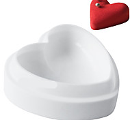 6inch non-stick French dessert love heart shape mousse silicone white pastry cake mold bakeware cream mould