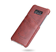 cheap -Case For Samsung Galaxy S8 Plus S8 Card Holder Back Cover Solid Color Hard PU Leather for S8 Plus S8 S7 edge S7