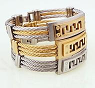Муж. Мальчики Браслет цельное кольцо Браслет разомкнутое кольцо Дружба Мода По заказу покупателя Открытые Металлик Титановая сталь