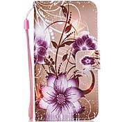 чехол для huawei p10 y5 ii корпус фиолетовый розовый pu кожа флип чехол с магнитной защелкой и слот для p10 lite p9 lite