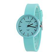 Mulheres Relógio de Moda Relógio de Pulso Único Criativo relógio Chinês Quartzo Tecido Silicone Banda Doce Casual Preta Branco Azul Verde