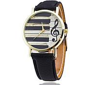cheap -Men's Quartz Wrist Watch Chinese Casual Watch PU Band Casual Unique Creative Watch Dress Watch Elegant Fashion Black White