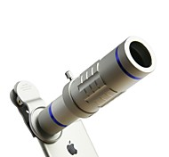 HD Phone lenses kit 18x Zoom Telephoto 0.45X Wide Angle 15X Super Macro Lens For iPhones Samsung Smartphones Clip Camera Lenses Sub Silver