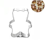 маленький медведь печенье резак из нержавеющей стали бисквит торт плесень fondend выпечки инструменты