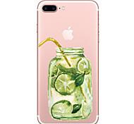 Недорогие -Для яблока iphone 7 7 плюс футляр для бутылок с футляром для бутылок с рисунком высокого проникновения Материал корпуса мягкий чехол для