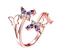 Women's Cuff Ring Cubic Zirconia Animal Design Alloy Animal Shape Jewelry For Wedding Party Office/Career Daily