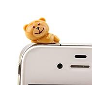Недорогие -анти-пылесборник diy bear мультфильм игрушка pvc diy для iphone 8 7 samsung galaxy s8 s7