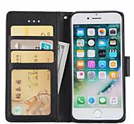 Недорогие -Чехол для Apple iphone 7 плюс 7 чехол чехол для карточек с кошельком с подставкой флип полный чехол для тела сплошной цвет твердая кожа pu