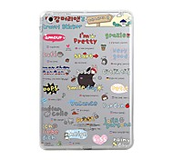 cheap -Case For Apple iPad Mini 4 iPad Mini 3/2/1 iPad 4/3/2 iPad Air 2 iPad Air Transparent Pattern Back Cover Tile Word / Phrase Cartoon Soft