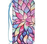 Недорогие -Чехол для Apple ipod touch 5 touch 6 чехол чехол для карточного кошелька с подставкой флип-паттерн полный корпус чехол цветок твердая кожа