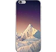 Недорогие -Случай для яблока iphone 7 7 плюс крышка случая снежка горный образец hd покрасили более толстый материал tpu мягкий случай случая