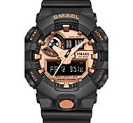 SMAEL Homens Relógio Esportivo Relógio de Moda Relogio digital Japanês Quartzo Digital Cronógrafo Impermeável Noctilucente Resistente ao