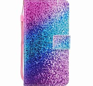 Étui pour iphone 7 7 plus porte-cartes porte-monnaie flip couleur sable motif corps plein dur pu cuir pour iphone 6 6s 6 plus 6s plus 5 5s