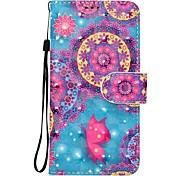 Custodia per mela iphone 7 plus 7 custodia porta carte di copertura caso con custodia in pelle modello pieno flip case 3d mandala impacca