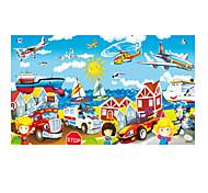 Обучающая игрушка Пазлы Деревянные пазлы Игрушки Автомобиль Вертолет Универсальные Куски