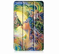 Painting Pattern Three fold PU Leather Case with Stand for Huawei medipad T3 7.0 inch Tablet PC