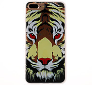 Case For Apple iPhone 7 7 Plus Case Cover Tiger Head Pattern 3D Relief Milk TPU Material Phone Case For   iPhone 6S 6 Plus SE 5S 5