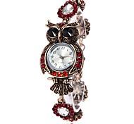 XU Women's  Diamonds Owl Casual Wrist Watch