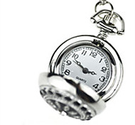 Men's Pocket Watch Quartz Water Resistant / Water Proof Alloy Band Silver
