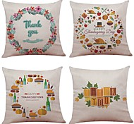 cheap -4 pcs Linen / Natural / Organic Pillow Case / Pillow Cover, Textured Beach Style / Traditional / Classic / Office / Business