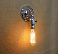 1pcs E27 Edison Vintage Loft Aisle Chrome Wall Lamp without Lamp for 110/220V