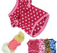 Katze Hund T-shirt Pyjamas Hundekleidung warm halten Tupfen Rose Braun Blau Rosa 5 # Kostüm Für Haustiere