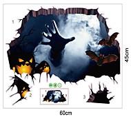 2017 новый 45 * 60 см декорации ковра на Хэллоуин и украшения настенных наклеек