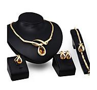 Women's Stud Earrings Pendant Necklaces Bracelet Multi-stone Rhinestone Fashion Personalized Luxury Costume Jewelry Zircon Rhinestone