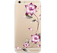 cheap -Case For Apple iPhone 7 Plus iPhone 7 Transparent Pattern Back Cover Flower Soft TPU for iPhone 7 Plus iPhone 7 iPhone 6s Plus iPhone 6s