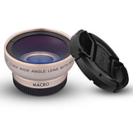 SHUOTU STLQ-027 Mobile Phone Lens 0.45X Wide-Angle Lens 10X Macro Lens Aluminium Alloy  49MM For Android Cellphone iPhone