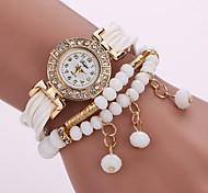 Women's Fashion Watch Bracelet Watch Simulated Diamond Watch Chinese Quartz Imitation Diamond PU Band Charm Casual Bohemian Elegant Black