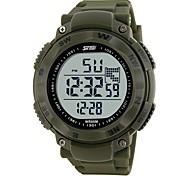 los relojes de lujo de los deportes de los hombres de la marca de fábrica miran el reloj militar llevado digital 1024 los 50m de la