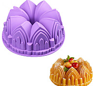 1PC Big Crown Castle Silicone Cake Mold 3D Birthday Cake Pan Decorating Tools Random Color