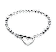 Women's Girls' Chain Bracelet Crystal Heart Fashion Crystal Silver Plated Oval Geometric Jewelry For Wedding Party Halloween Birthday