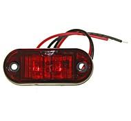 sencart 10pcs 2led rosso ha condotto la luce laterale di marcia laterale dell'automobile del camion della lampada 9-30v