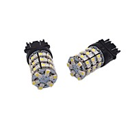 2X High Bright Lightness 24W 1157 3157 7743 Dual Color LED Brake Bulb Turn Signal Multi-functional LED Bulb