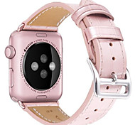 pour Apple Watch Series 3 2 1 bracelet en cuir véritable bracelet en cuir rose 42mm 38mm