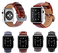 pour Apple Watch Series 3/2/1 vintage authentique authentique bracelet bracelet en cuir