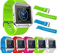 para las correas genuinas del reloj del silicón del resplandor del fitbit para el marco meatal de la venda del reemplazo del resplandor