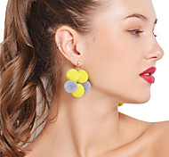 cheap -Women's Drop Earrings Hoop Earrings Rhinestone Sexy Colorful Rhinestone Flannelette Ball Jewelry For Party Daily