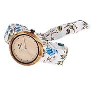 Жен. Модные часы Часы Дерево Японский Кварцевый деревянный Материал Группа Кулоны На каждый день Elegant Белый Синий