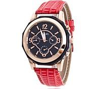 Damen Kleideruhr Modeuhr Armbanduhr Chinesisch Quartz PU Band Bettelarmband Bequem Elegante Schwarz Blau Rot Rosa Rose
